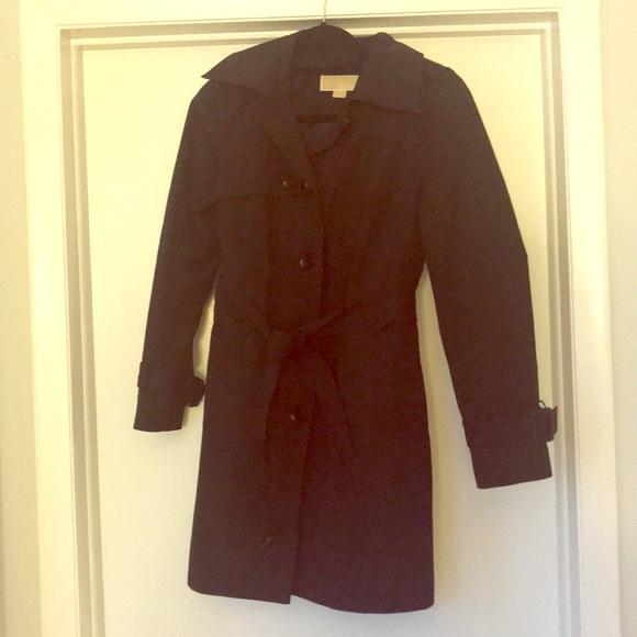 ad94248f024 Michale Kors Black Trench Coat - M - waterproof